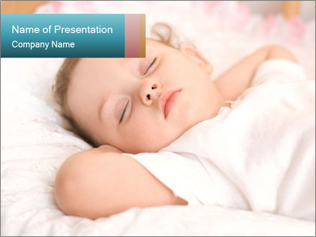 Sweet baby sleeping PowerPoint Template